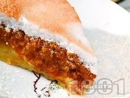 Ябълкова торта с белтъчена заливка